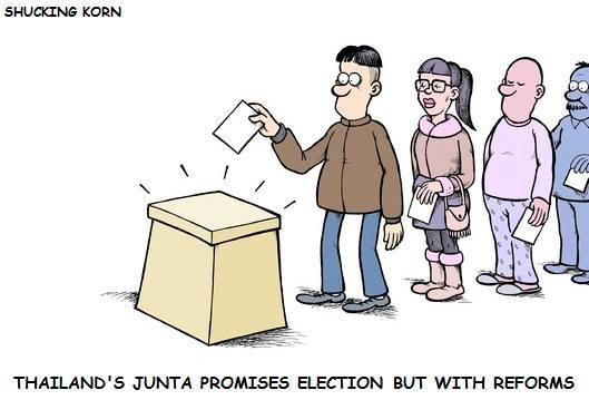 ขั้นตอนล่าสุดในการจัดระบบประชาธิปไตยปลอม