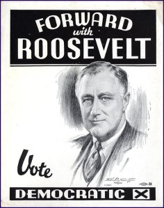 1936rooseveltposterframed